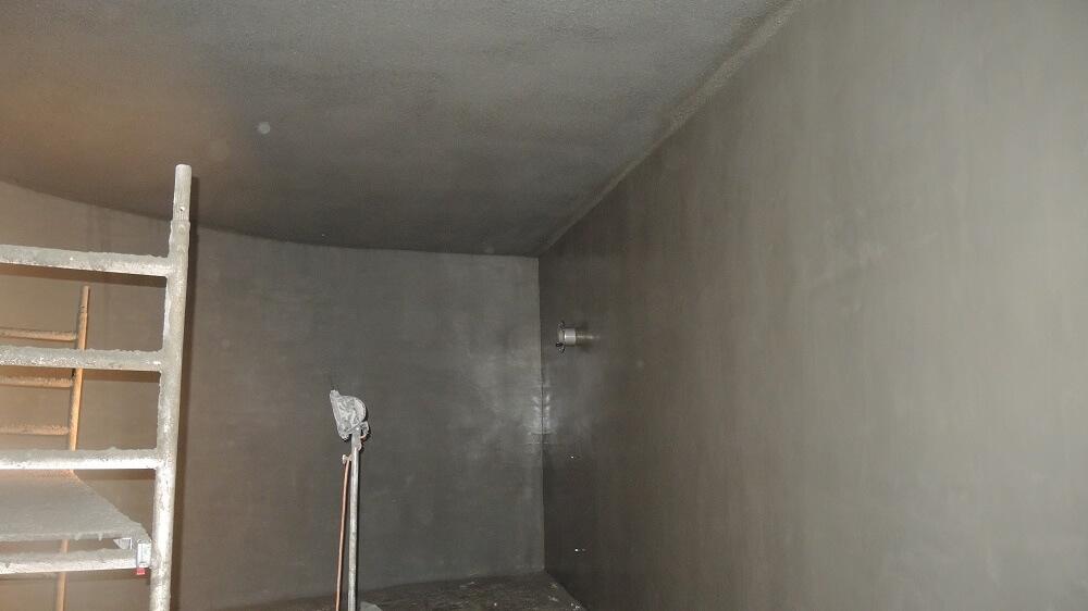 <p>fertig beschichtete Wand- und Deckenfläche</p>