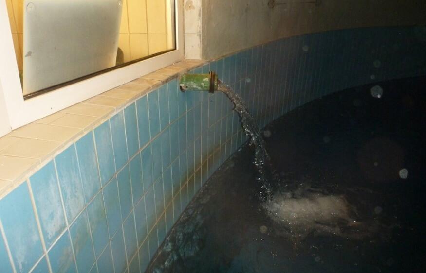 <p>Wasserkammer vor den Sanierungsmaßnahmen</p>