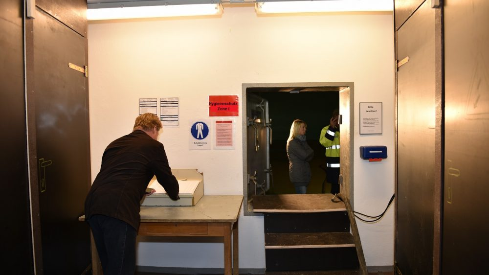 <p>Zugang Wasserkammer – Hygieneschutzzone I</p>